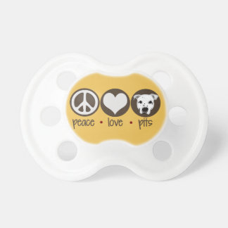Peace Love Pits Baby Pacifier