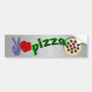 Peace love Pizza Bumper Stickers