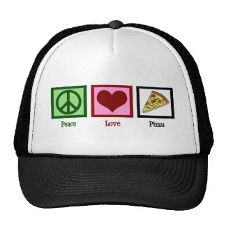 Peace Love Pizza Trucker Hat