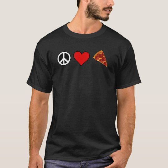 Peace Love Pizza T-shirt