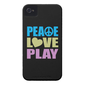 Peace Love Play iPhone 4 Case-Mate Cases