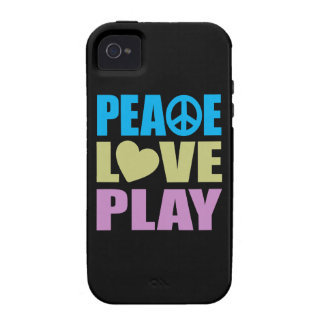 Peace Love Play Vibe iPhone 4 Case