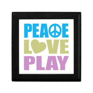 Peace Love Play Small Square Gift Box