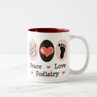 Peace Love Podiatry Podiatrist Mug
