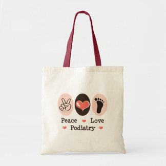 Peace Love Podiatry Podiatrist Tote Bag