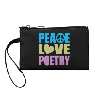 Peace Love Poetry Coin Wallets