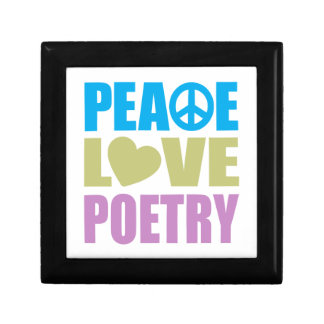 Peace Love Poetry Small Square Gift Box