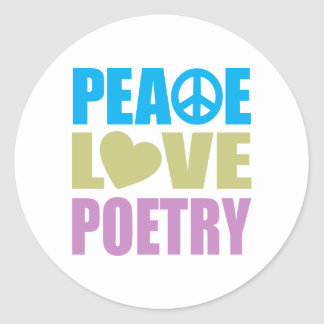 Peace Love Poetry Sticker
