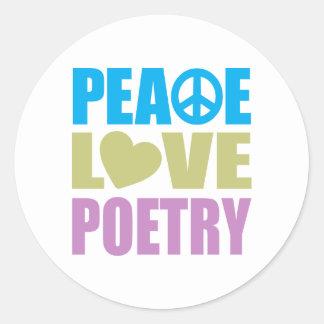 Peace Love Poetry Sticker