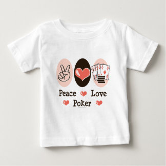 Peace Love Poker Baby T shirt