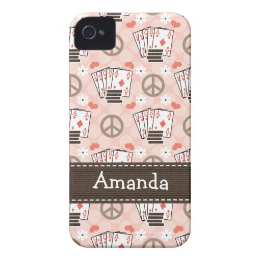 Peace Love Poker iPhone 4 4s Case-Mate Cover iPhone 4 Case
