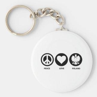 Peace Love Poland Key Ring