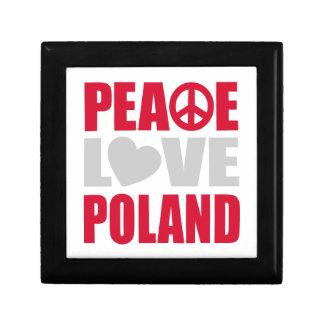 Peace Love Poland Small Square Gift Box