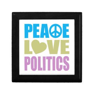 Peace Love Politics Small Square Gift Box