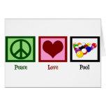 Peace Love Pool Card
