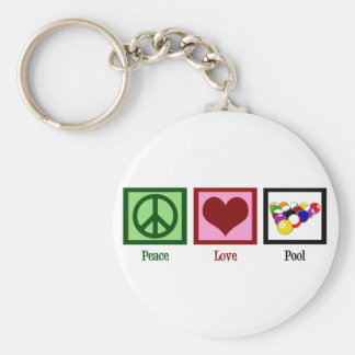 Peace Love Pool Key Chains