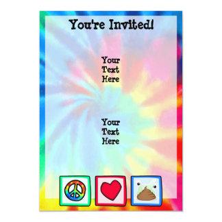 Peace, Love, Poop 13 Cm X 18 Cm Invitation Card