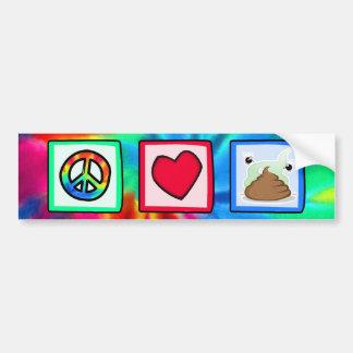 Peace, Love, Poop Bumper Sticker