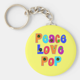 Peace Love Pop Father's Day Gifts Key Chains
