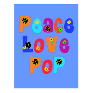 Peace Love Pop Father's Day Gifts Postcards