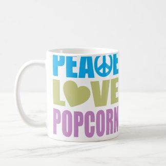 Peace Love Popcorn Coffee Mug