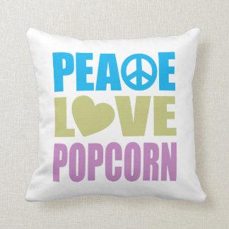 Peace Love Popcorn Pillow