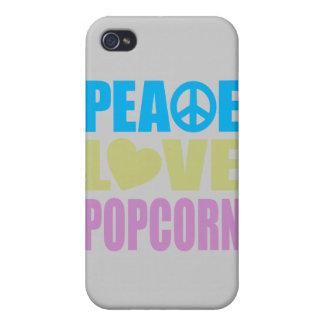 Peace Love Popcorn iPhone 4/4S Case