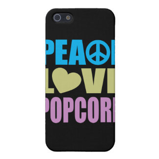 Peace Love Popcorn Covers For iPhone 5