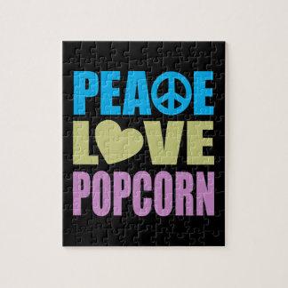 Peace Love Popcorn Jigsaw Puzzles