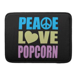 Peace Love Popcorn Sleeve For MacBook Pro