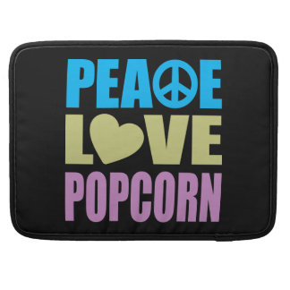 Peace Love Popcorn Sleeves For MacBook Pro