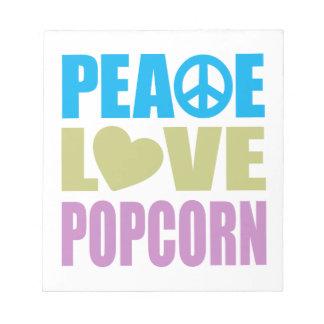 Peace Love Popcorn Memo Note Pads