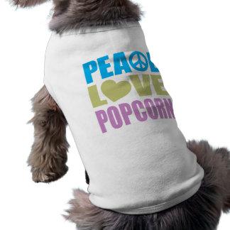 Peace Love Popcorn Pet Tshirt