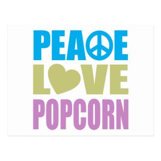 Peace Love Popcorn Post Cards