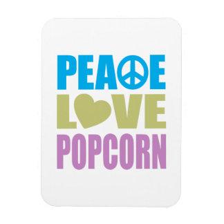 Peace Love Popcorn Magnets