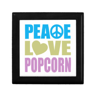 Peace Love Popcorn Small Square Gift Box