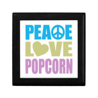 Peace Love Popcorn Trinket Boxes
