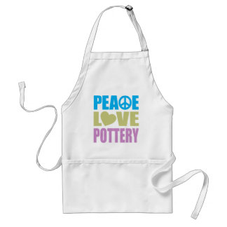 Peace Love Pottery Standard Apron