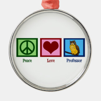 Peace Love Professor Christmas Ornament