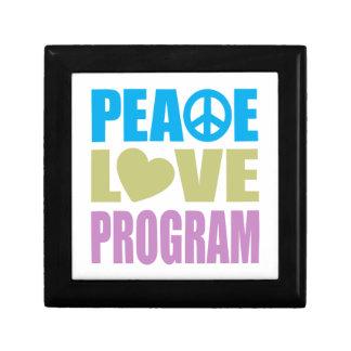 Peace Love Program Small Square Gift Box