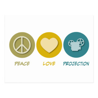 Peace Love Projection Postcard