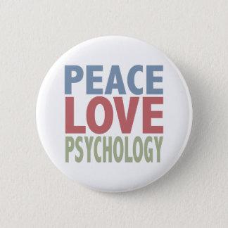 Peace Love Psychology 6 Cm Round Badge