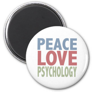 Peace Love Psychology 6 Cm Round Magnet