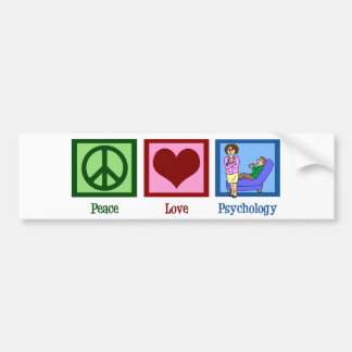 Peace Love Psychology Bumper Sticker
