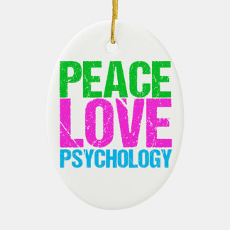 Peace Love Psychology Cute Christmas Ornament