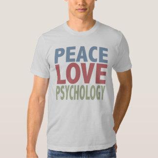 Peace Love Psychology T Shirts