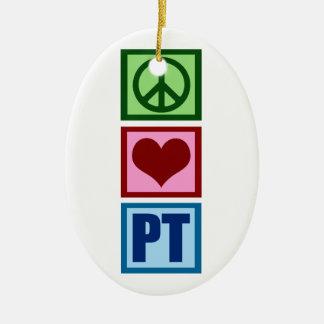 Peace Love PT Christmas Ornament