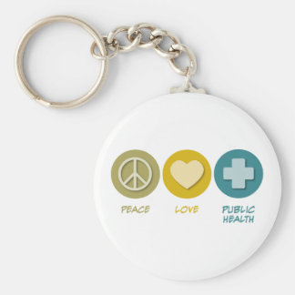Peace Love Public Health Key Ring