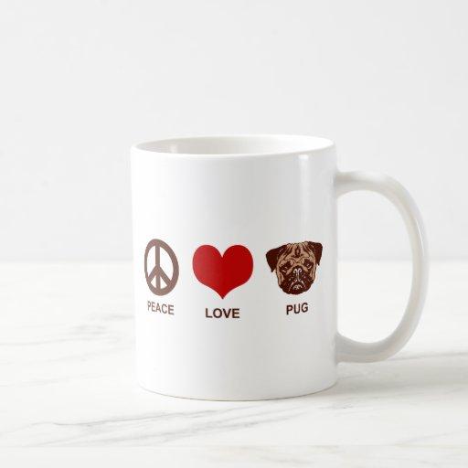 Peace Love Pug Mugs