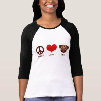 Peace Love Pug T-shirts